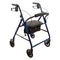 "ProBasics Steel Rollator, 6"" Wheels, Blue, 300 lb Weight Capacity"
