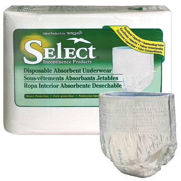 Select Disposable Heavy Protection Youth Underwear 38 - 65 lbs