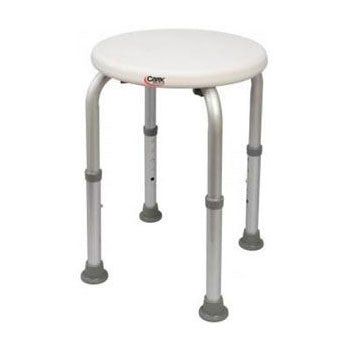 "Carex Compact Shower Stool 13.5"" W x 13"" D x 13"" H, 250 lb Weight Capacity"