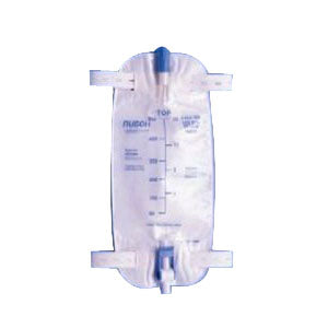 Premium Leg Bag with Flip Valve and Straps, 1000 mL