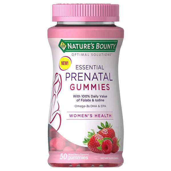 Optimal Solutions Essential Prenatal Gummies, 50 Ct