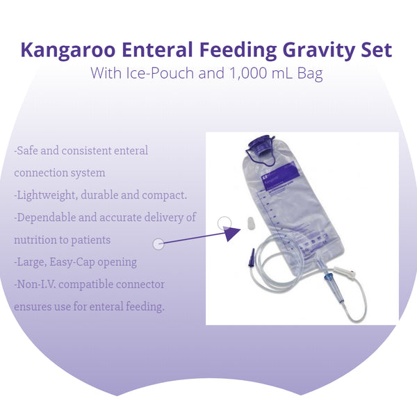 Kangaroo Enteral Feeding Gravity Set with Ice-Pouch and 1,000-mL Bag