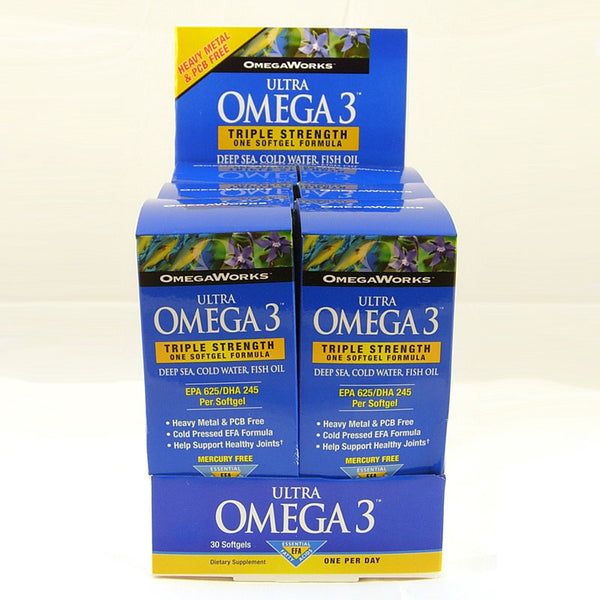 OmegaWorks Ultra Omega 3 Counter Display