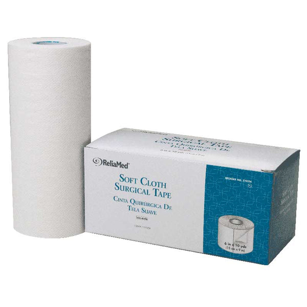 "ReliaMed Soft Cloth Surgical Tape 6"" x 10 yds."