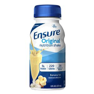 Ensure Banana Nut Shake Retail 8oz. Bottle