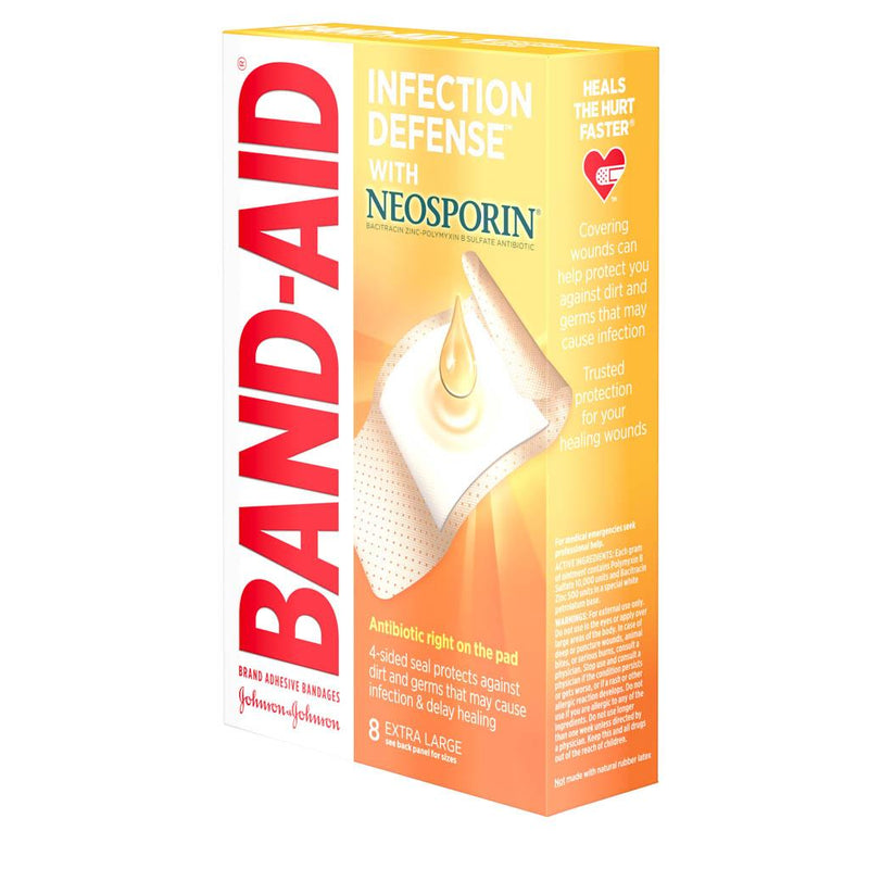 J & J Band-Aid First Aid Infection Defense XL 8 ct