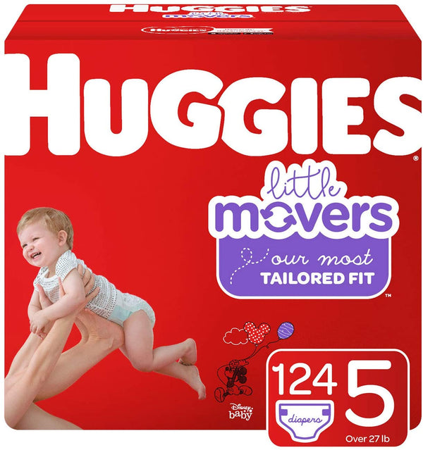Huggies Little Movers Diapers, Size 5, Big Pack
