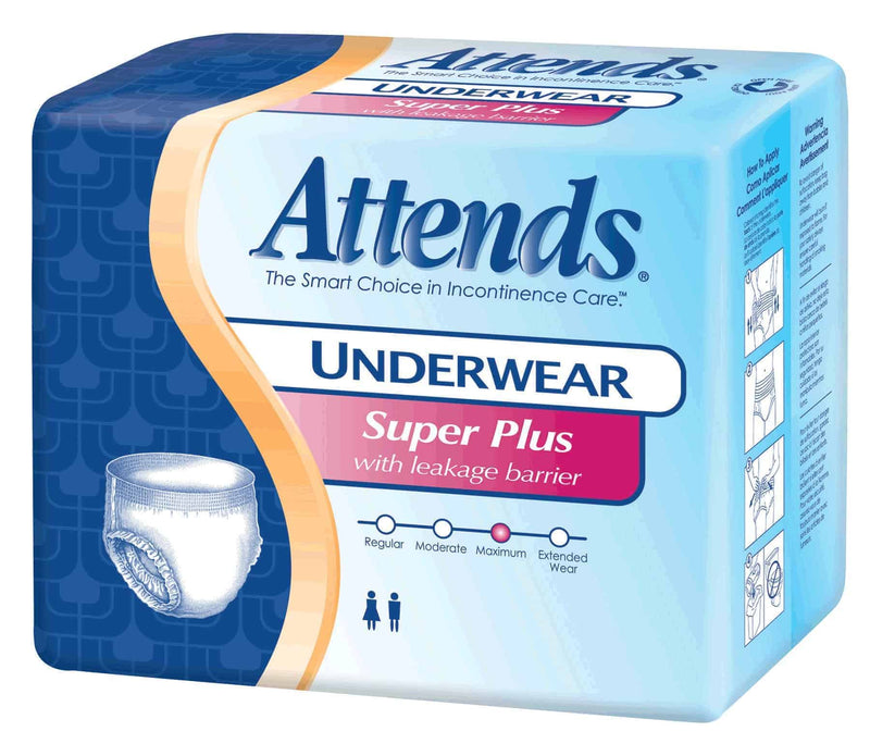 Attends Super Plus Absorbency Pull-On Protective Underwear With Leakage Barrier