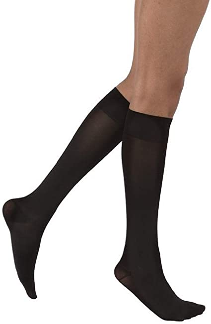 Jobst Opaque SoftFit Knee-High, 20-30, Closed, Black, Small