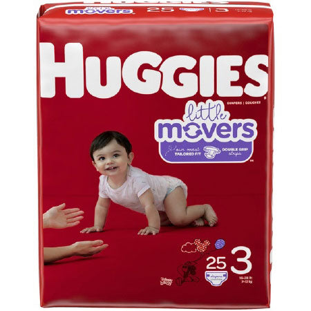 Huggies Little Movers Diapers, Size 3, Jumbo Pack