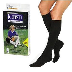 SensiFoot Diabetic Knee-High Mild Compression Sock, Small, Black