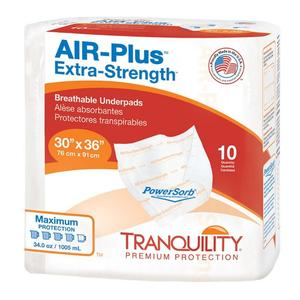 "Tranquility AIR-Plus Extra-Strength Breathable Underpad, 30"" x 36"""