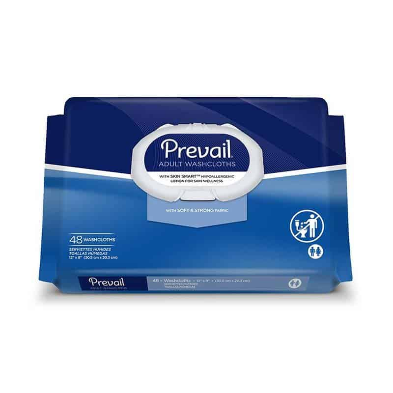 Prevail Adult Washcloths 48's
