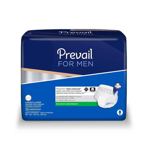"Prevail Underwear For Men Large/X-Large 44"" - 64"", Maximum Absorbency"
