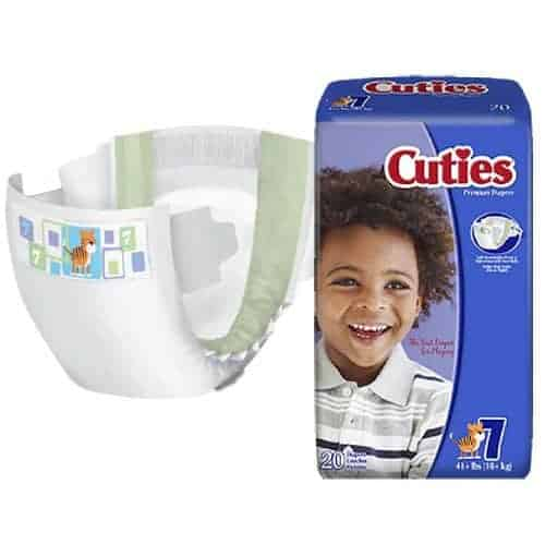 Cuties Baby Diapers, Size 7, 41+ lbs