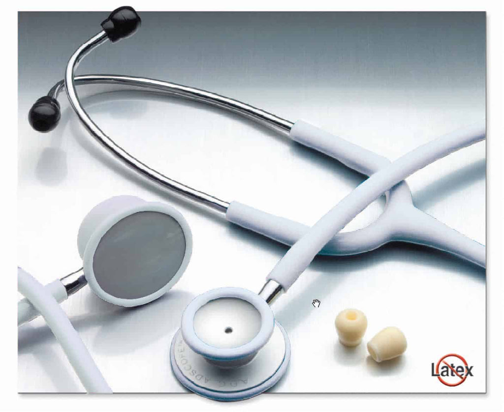 Adscope 609 2-HD Stethoscope, Frosted Glacier, Aluminum