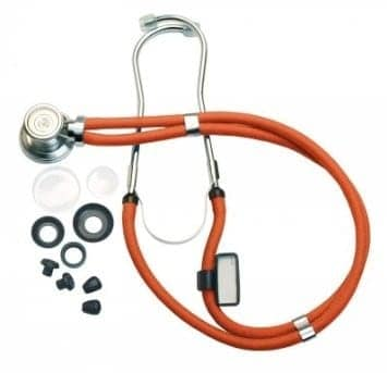 Sprague-Rappaport Type Stethoscope with Accessory Pack, Neon Orange