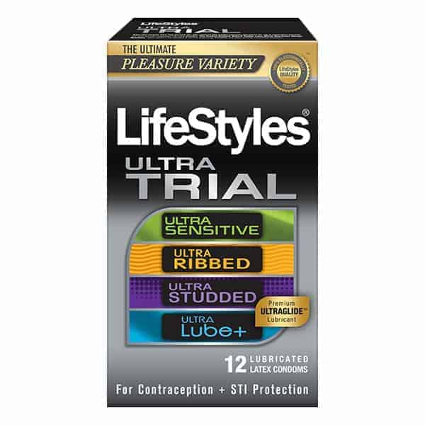Lifestyles Ultra Latex Condom Trial Pack, 12 Count