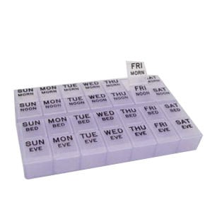 "Mediplanner II Pill Holder 8-3/8"" x 5-5/8"" x 1-1/8"""