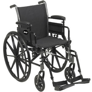"Drive Medical Cruiser III Wheelchair Seat 18"", Black"