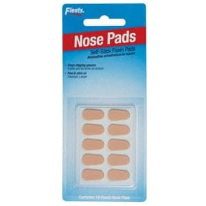 Flents Nose Pads Self-Stick Foam, Peach
