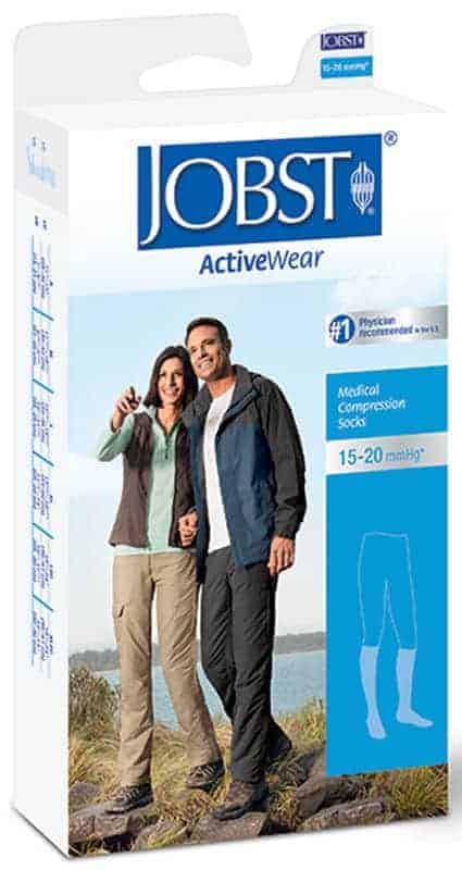 JOBST ActiveWear Knee-High Moderate Compression Socks Small, Black
