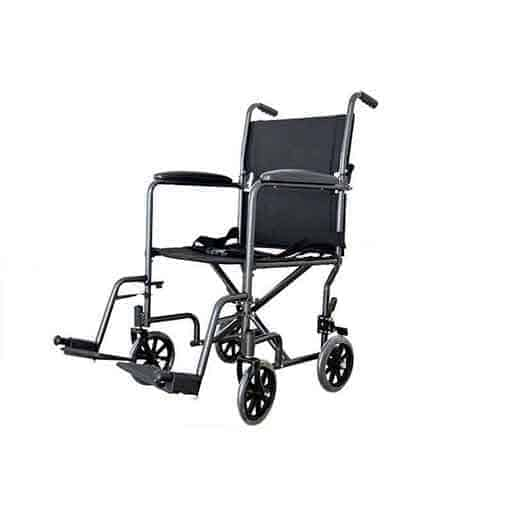 Steel Transport Chair with Swing-Away Footrest