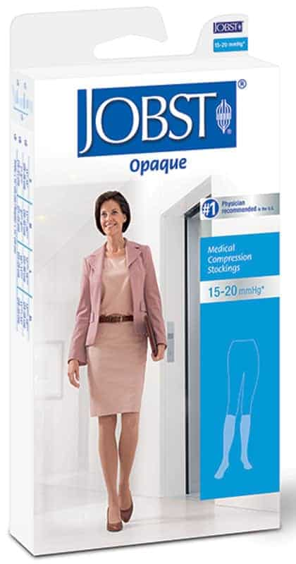 Opaque Knee-High Moderate Compression Stockings X-Large, Natural