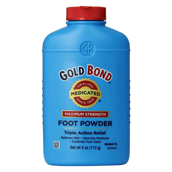 Gold Bond Medicated Maximum Strength Foot Powder, 4 oz.