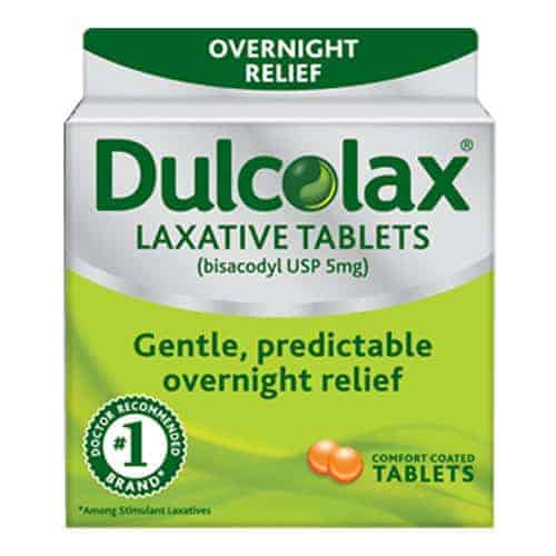 Dulcolax Overnight Relief Laxative Tablets, 25 ct.