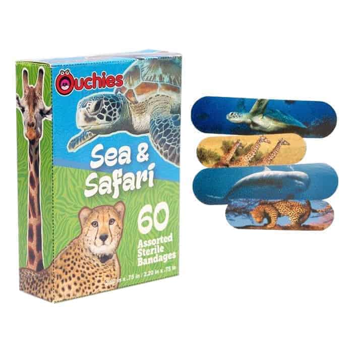 Ouchies Sea and Safari Bandages 60 ct