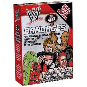 Ouchies WWE Adhesive Bandages 30 ct