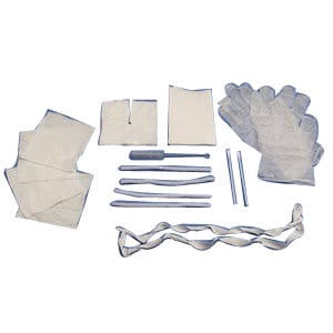 Trach Care Kit, Sterile, Gloves, Drape, Gauze,Tape