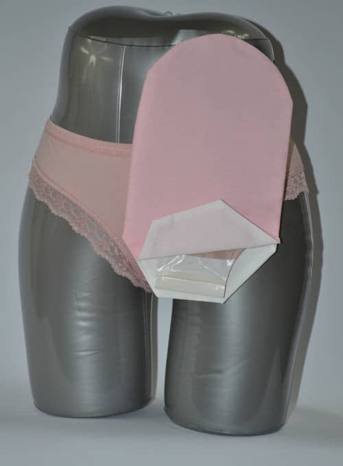 "Daily Wear Pouch Cover, Open End, Fits Flange Opening of 3/4"" to 2-1/4"", Overall Length 10"", Pink"