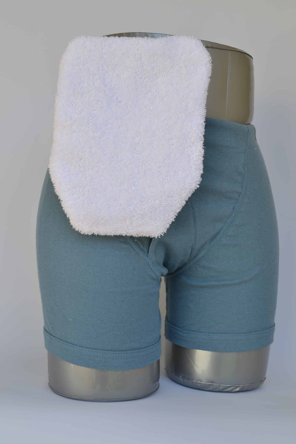 "Quick Dry Pouch Cover, Fits Flange Opening of 3/4"" to 2-1/4"", Overall Length 9"", White Terry Cloth"