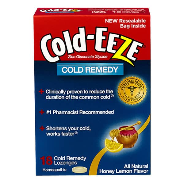 Cold-EEZE Cold Remedy, Honey Lemon, 18 ct.
