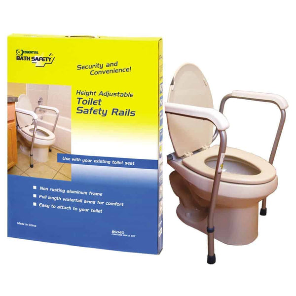 Adjustable Toilet Safety Rails