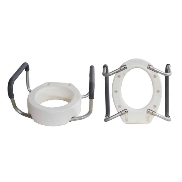 Essential Toilet Seat Riser with Removable Arms