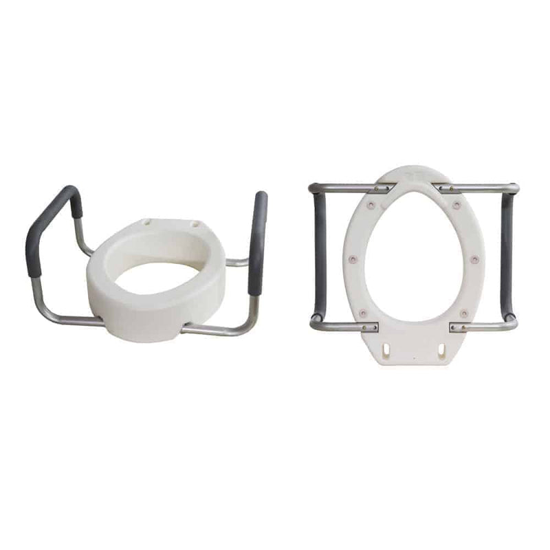 Toilet Seat Riser with Removable Arms Elongated
