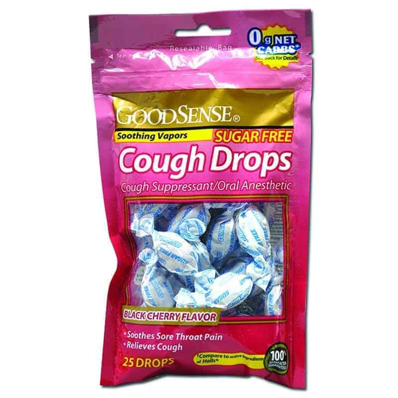 Sugar-Free Cough Drops, Black Cherry (25 Count)