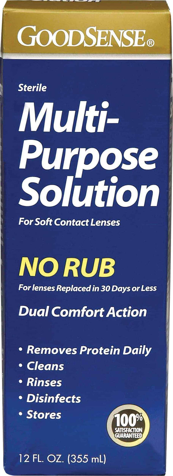 Multi-Purpose Saline Solution for Soft Contact Lenses, 12 oz.