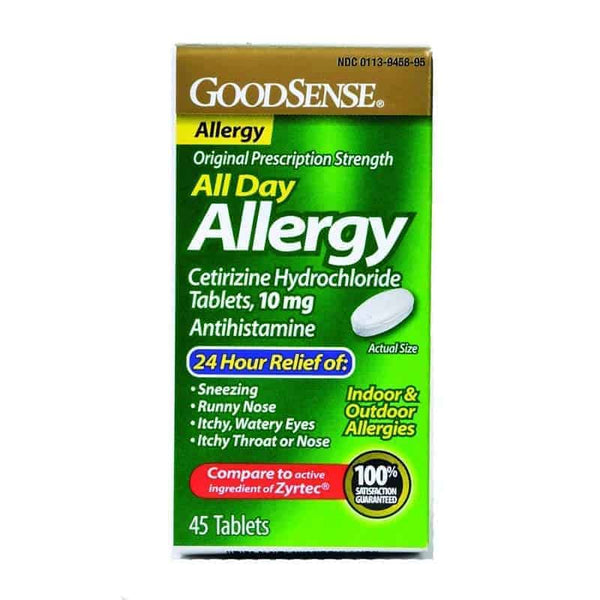All Day Allergy Relief Tablet, 10 mg Cetirizine Hydrochloride