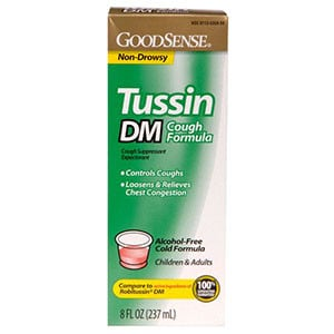 Tussin DM Cough Syrup for Children and Adults, 8 oz.
