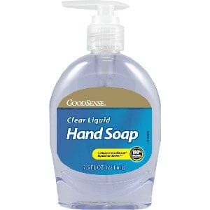 Liquid Hand Soap, Clear, 7.5 oz.