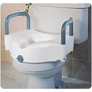 Medline Elevated Toilet Seat with Handles