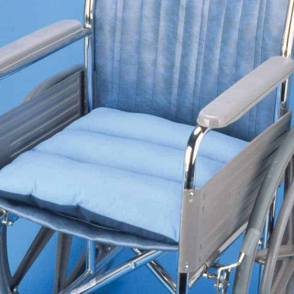 Hermell Total Comfort Chair Cushion with Blue Cover
