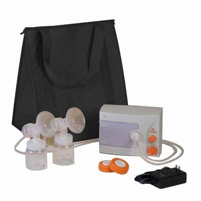 Hygeia Q Breast Pump with Deluxe Tote, Accessory Set and Power Supply