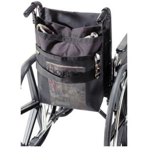 HomeCare Products Wheelchair Back Tote Bag, Black