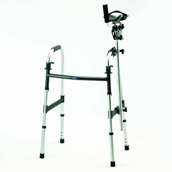 Walker Platform Attachment with Thick Vinyl-Covered Pad with Heavyduty Velcro Strap