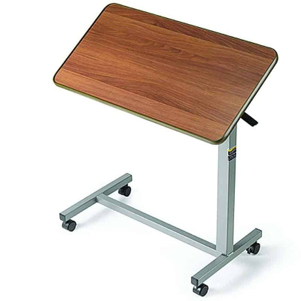 "Tilt-Top Overbed Table, 30"" x 15"" x 3/4"", 25-3/4"" to 39"""